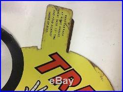 NOS VintageAtlas Tire SignGAS STATION METAL INSERT Original NOS