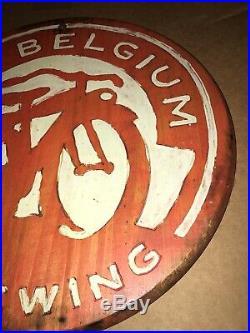 New Belgium Brewing Wood Beer Sign Vintage Wood Sign Fat Tire Beer