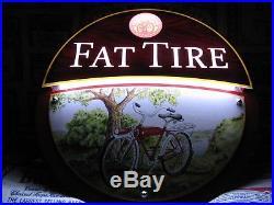 New Vtg 2013 Fat Tire Beer Led Ghost Rider In Motion Bar Light Pub Sign Rare