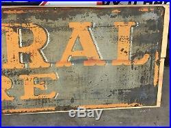 ORIGINAL VinTaGe GENERAL TIRE Sign Old Gas Oil AnTiQue Station Car Truck PATINA