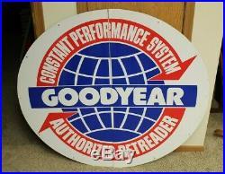 ORIGINAL Vintage GOODYEAR DEALER Garage Sign