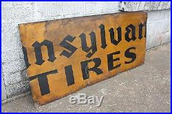Old Antique Pennsylvania Tire Sign Original Vintage Collectible Petroliana