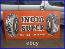 Old Vintage Antique Enamel Sign Garage Gas Petrol Oil Jug Globe Tyres Tire India
