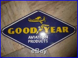 Old vintage Porcelain Enamel Good Year Tires Sign board from England 1930