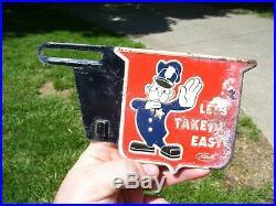 Original Ford motor co. Automobile license Plate topper promo accessory vintage