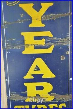 Original Vintage Franco Enamel London Goodyear Tyres Tire Sign