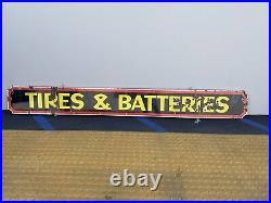 Original Vintage Porcelain (signal) Tires & Batteries Sign