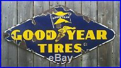 Original Vintage RARE Canadian Goodyear Tires SSP Porcelain Sign