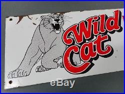Original Vintage Uniroyal Wild Cat Tyre Tin Sign