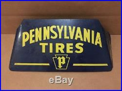 Pennsylvania Tire Stand Sign Vintage Metal Garage Shop Decor Gas Oil Man Cave