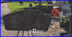 RARE VINTAGE ORIGINAL dated 1950 SIGN BF GOODRICH 1870 TIRES BATTERIES 60 inch