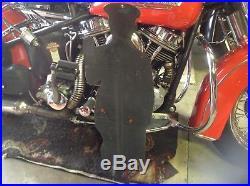RARE VINTAGE PORCELAIN METAL DIE CUT HOOD TIRES SIGN Harley Ford Chevy Mopar