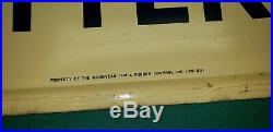 RARE Vintage 1953 Goodyear Tires & Battery Gas Station Embossed Metal Sign 72