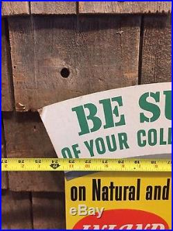 RARE Vintage 40's INLAND Green Top Tire Tube Patch Repair Kit Advertising Sign