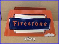 RARE Vintage Original FIRESTONE Tire Gas Station Dealer Tire Display Stand Sign