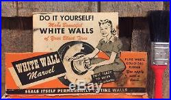 RARE Vintage WHITE WALL MARVEL Seals To Tire Walls R-Cote Co. Kit Store Display