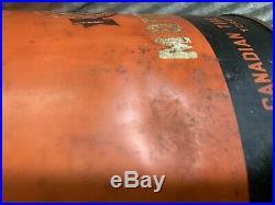 Rare Antique Vtg Ca. 1930s MotoMaster 5 Gallon Oil Can Bucket Canadian Tire Sign