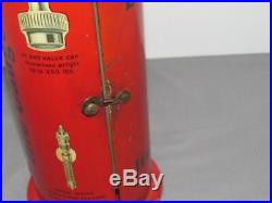 Rare VINTAGE Schrader Tire Gauge Dealer Display Cabinet Tin Sign SHARP car auto