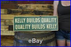 Rare Vintage 1960's Kelly Springfield Tires Gas Oil tin Metal Sign Gas Oil Adv