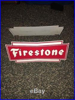 Rare Vintage Firestone Tire Display Sign