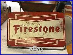Rare Vintage Firestone Tire Display Sign Nice Logo Sbwimdow
