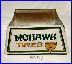Rare Vintage MOHAWK TIRES Metal Advertising Tire Gas Station Display Stand Sign