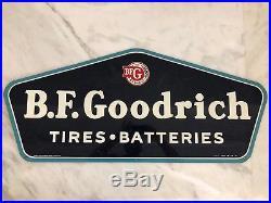 Rare Vintage Original Porcelain Sign Bf Goodrich Tires Automotive