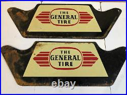 Rare Vintage Original The General TIRE Metal Display Stand Sign Gas & Oil