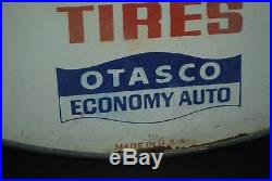 Rare Vtg 1960's Otasco Economy Auto Brunswick Tires Thermometer Advertising Sign