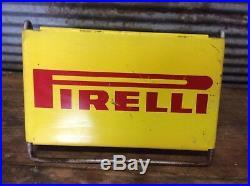 Rare Vtg Ca. 60s Original PIRELLI Tire Display Stand 15 x 9 Advertising Sign