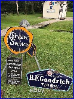 Rare vintage1920's BF Goodrich Tires Sign Gas Oil Service Station PORCELAIN