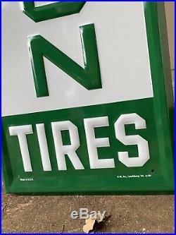 Remington Tires Sign Car Garage Vintage Sign