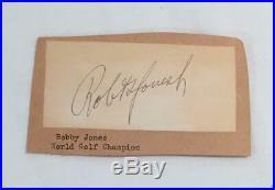 Robert Tyre Bobby Jones early 1930's Vintage Signed Card / Cut JSA LOA