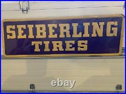 Seiberling Tires Sign Antique Vintage SST not porcelain OIL GAS TIRE SERVICE