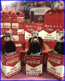 Six (6) 1950s COCA COLA Handy Bottle Holders Vintage Final Lot (Abt Gone)