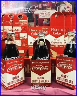 Six (6) 40s 50s COCA COLA Handy Bottle Holders Vintage Old Gm Final Lot Deal