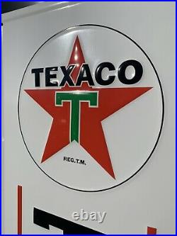 Texaco Tires Sales Service Gas Oil Auto Sign Vintage Style Garage Wall Decor