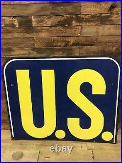 US Tires Vintage Collectable Gas Oil Porcelain sign original vintage