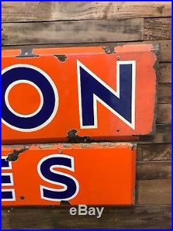 Union Tires, Porcelain, Gas Oil, Vintage, Collectable, Sign