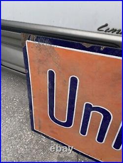 United States Tires Gas Oil Vintage Original Porcelain Sign