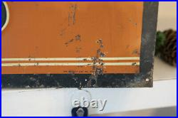VERY RARE Vintage Belknap Tires Metal Store Display Sign Orange & Black