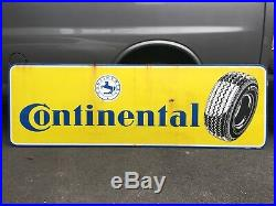 VERY RARE Vintage Large Continental Tires Porcelain Advertisement Sign Gas Oil