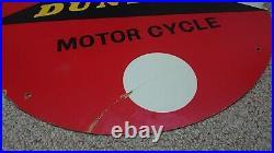VINTAGE DUNLOP MOTOR CYCLE TYRE CARDBOARD HARDBOARD SIGN enamel michelin avon