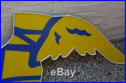 VINTAGE GOODYEAR TIRES FLYING FOOT GAS SIGN SHOE DECOR Garage Gas Oil