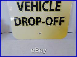 VINTAGE GOODYEAR TIRES GUEST VEHICLE DROP-OFF PARKING Sign BLIMP METAL GARAGE