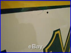 VINTAGE NOS in BOX ORIGINAL MOHAWK TIRES GAS OIL METAL ADVERTISING EMBOSSED SIGN