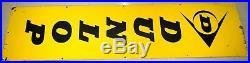 VINTAGE OLD DUNLOP Authorised Tyre Dealer Porcelain Enamel Sign Board