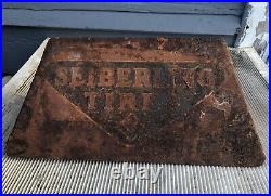 VINTAGE SEIBERLING TIRE HOLDER DISPLAY Frank Seiberling Goodyear Tire Cool