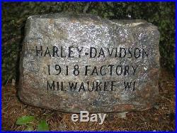 VTG Harley-Davidson Motorcycle ORIGINAL STONE sign indian gift rims jacket tire