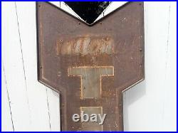 Very Early 1920s National Tires Service Advertising Sign Patina Vintage 6'6